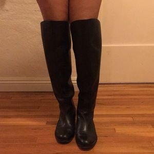 COACH Genuine leather. Over the knee boots